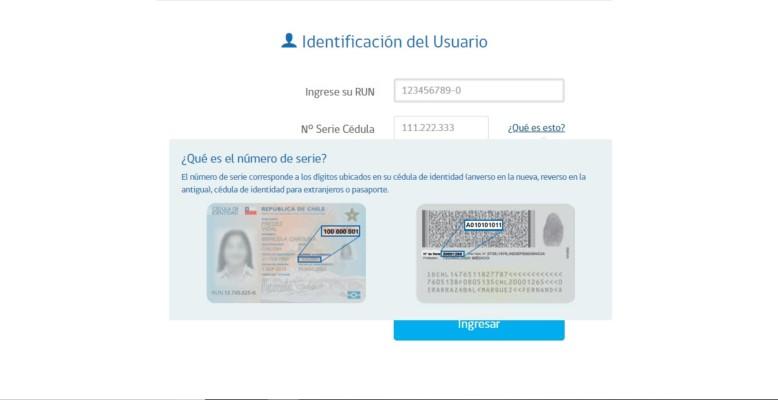 identificacion del usuario
