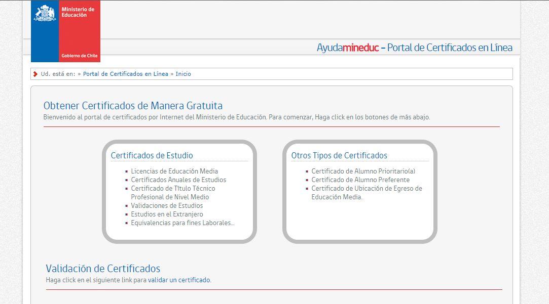 obtener certificados