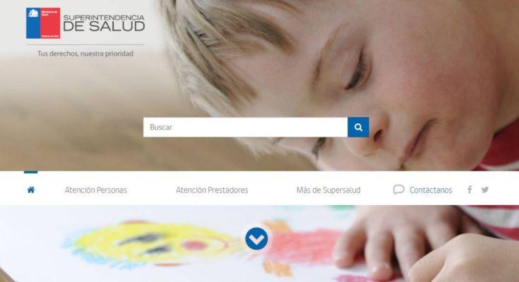 web de la superintendencia de salud