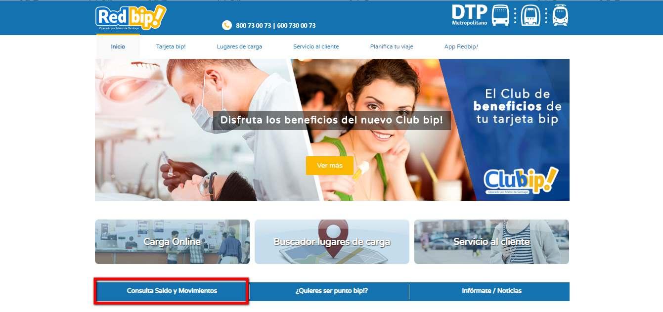 web oficial bip consulta saldo