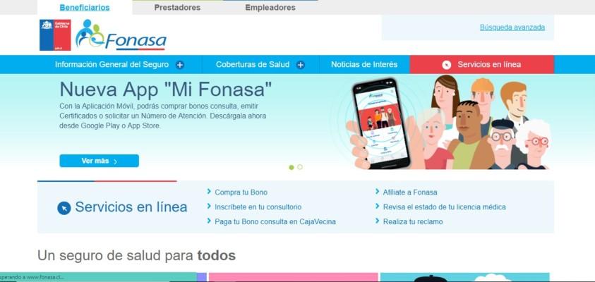 web oficial fonasa