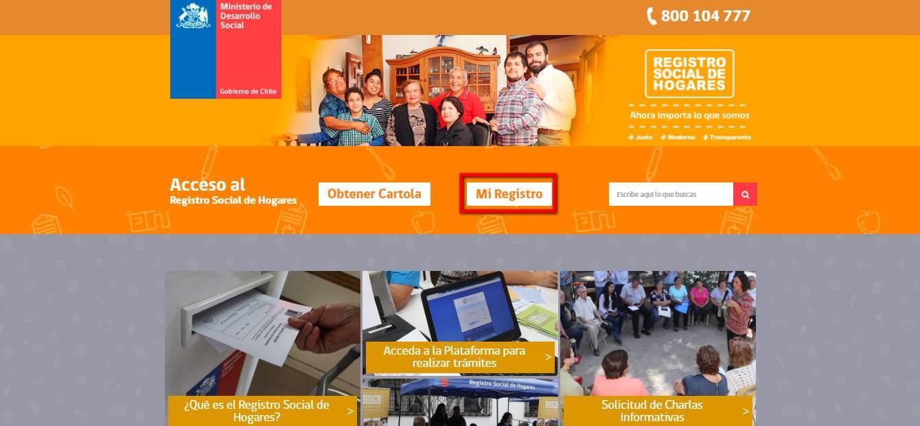 web para el registro